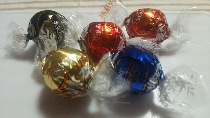 リンドールチョコ5種