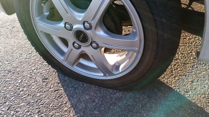 新品のタイヤがパンク。悔しい・・・