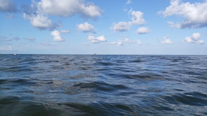 うねりのせいか波が高い