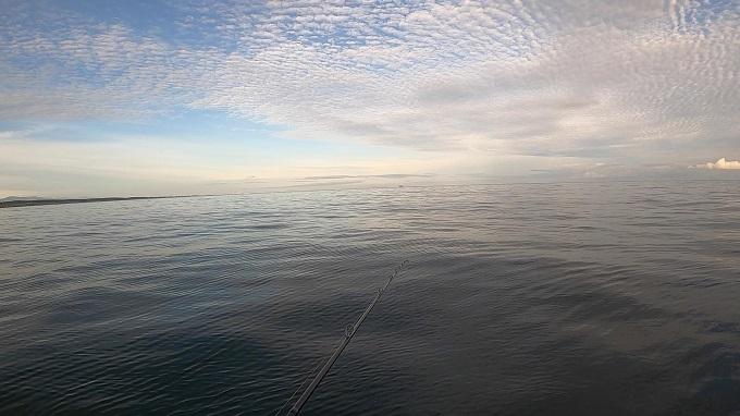 朝は波が穏やかだった